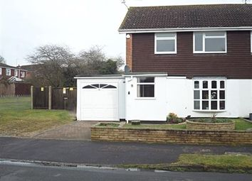 Thumbnail 3 bed semi-detached house to rent in Holly Road, Woodley, Reading