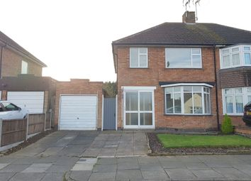 Thumbnail 3 bedroom semi-detached house for sale in Chatteris Avenue, Evington, Leicester