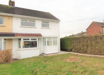 Thumbnail 3 bedroom semi-detached house for sale in Llangewydd Road, Bridgend, Bridgend County.