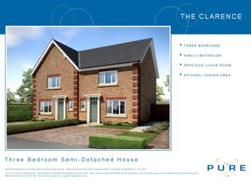 Thumbnail 3 bed semi-detached house for sale in Brookhouse, Denbigh