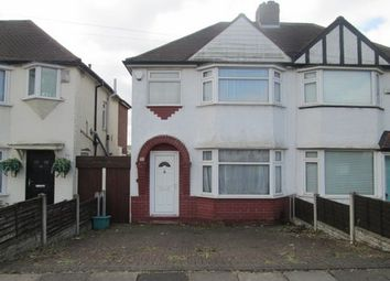 Thumbnail 1 bed semi-detached house to rent in Teddington Grove, Perry Barr