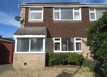 Thumbnail 3 bed semi-detached house for sale in Worthington Close, Stilton, Peterborough