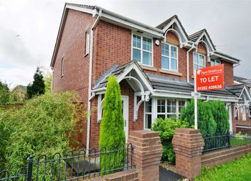 Thumbnail 3 bed semi-detached house to rent in Leigh Road, Hindley Green, Wigan
