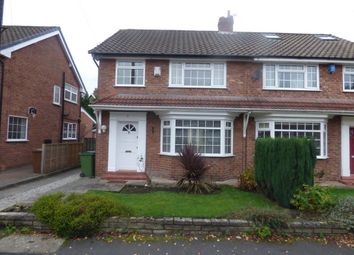 Thumbnail 3 bed semi-detached house to rent in Ashley Drive, Bramhall, Stockport