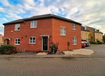 Thumbnail 3 bed semi-detached house for sale in Justinian Close, Hucknall, Nottingham