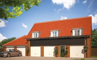 Thumbnail 2 bed maisonette for sale in Butterfield Meadow, Hunstanston, Norfolk