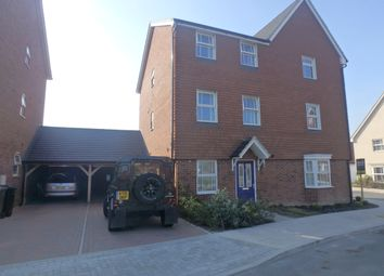 Thumbnail 3 bed town house to rent in Mercer Avenue, Castle Hill, Ebbsfleet Valley, Swanscombe