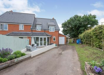 Thumbnail 3 bed semi-detached house for sale in Mill Close, Wortham, Diss