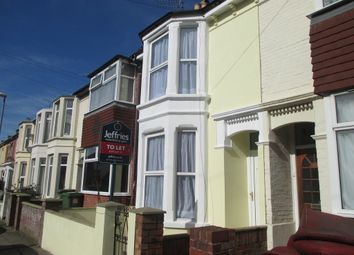 Thumbnail 3 bed terraced house to rent in Connaught Road, Portsmouth