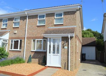 Thumbnail 3 bed semi-detached house for sale in Burch Close, King's Lynn