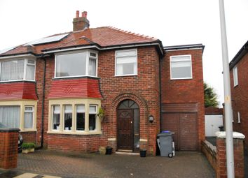 Thumbnail 4 bed semi-detached house to rent in Gregory Avenue, Bispham, Blackpool