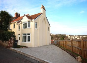 Thumbnail 3 bed terraced house to rent in Leys Road, Torquay