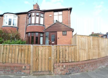Thumbnail 4 bed semi-detached house for sale in Freeman Road, High Heaton, Newcastle Upon Tyne
