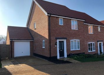 Thumbnail 3 bed semi-detached house for sale in Beech Road, Saxmundham
