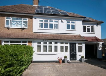 Thumbnail 4 bedroom semi-detached house for sale in Eugene Close, Gidea Park, Romford
