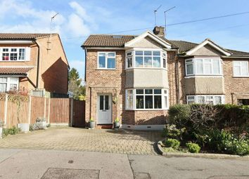 Thumbnail 4 bed semi-detached house for sale in Graham Avenue, Broxbourne, Hertfordshire.