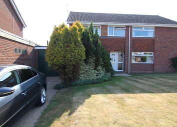 Thumbnail 3 bed semi-detached house for sale in Cottinghams Drive, Norwich