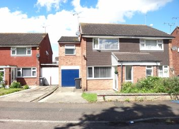Thumbnail 3 bed semi-detached house for sale in Uttoxeter Close, Rushey Mead, Leicester