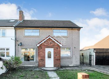 Thumbnail 3 bed semi-detached house to rent in Cross Road, Mawneys, Romford