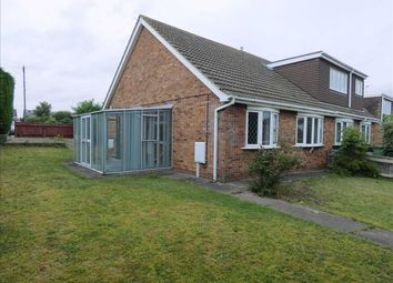 Thumbnail 2 bed semi-detached bungalow for sale in Priory Road, Wybers Wood, Grimsby
