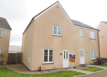 Thumbnail 3 bed semi-detached house for sale in Nickleby Court, Liskeard, Cornwall
