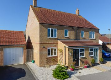 Thumbnail 3 bed semi-detached house for sale in Southdown Close, Bridgefield, Ashford