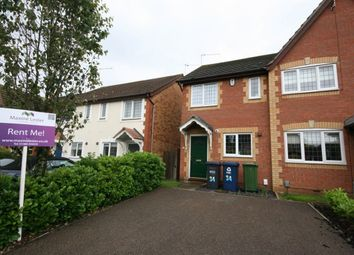 Thumbnail 2 bed terraced house to rent in Dyson Close, Huntingdon