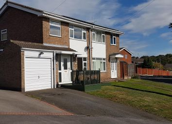 Thumbnail 3 bed semi-detached house for sale in Swallow Dale, Thringstone, Leicestershire