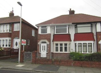 Thumbnail 3 bed semi-detached house to rent in Salmesbury Avenue, Blackpool