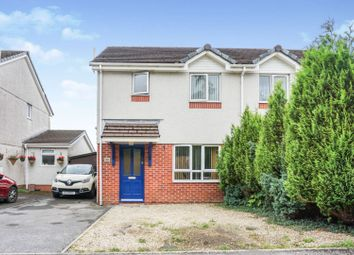 Thumbnail 3 bed semi-detached house for sale in Clos Cenawon, Swansea