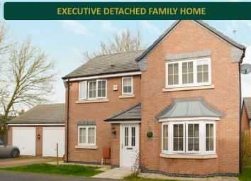 Thumbnail 4 bed detached house for sale in Abington Close, Wigston, Leicester