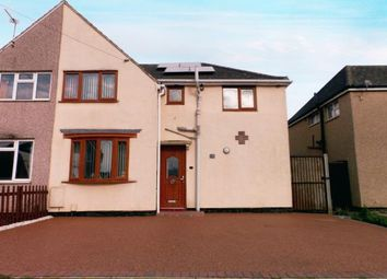 Thumbnail 4 bed semi-detached house for sale in East Crescent, Ellistown, Coalville, Leicestershire