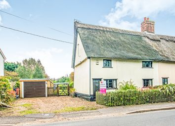Thumbnail 3 bed semi-detached house for sale in Garboldisham Road, East Harling, Norwich