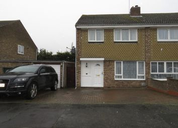 Thumbnail 3 bed semi-detached house to rent in Woodford Close, Clacton-On-Sea