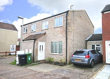 Thumbnail 3 bed semi-detached house for sale in Porter Road, Long Stratton, Norwich