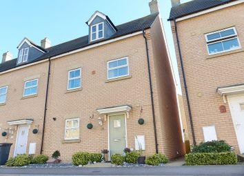 Thumbnail 5 bed town house for sale in Shackleton Way, Yaxley, Peterborough