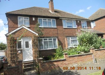 Thumbnail 3 bedroom semi-detached house to rent in Cheviot Road, Luton