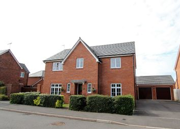 Thumbnail 4 bed detached house for sale in Newman Drive, Church Gresley, Swadlincote
