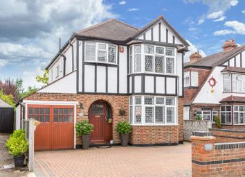 Thumbnail 3 bed detached house for sale in Park Avenue West, Stoneleigh, Epsom