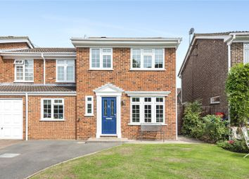 Thumbnail 4 bed semi-detached house for sale in Riversdell Close, Chertsey, Surrey