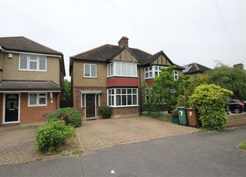 Thumbnail 3 bed semi-detached house for sale in Newbolt Avenue, Cheam, Sutton, Surrey