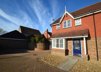 Thumbnail 3 bed semi-detached house to rent in Jennings Way, Horley