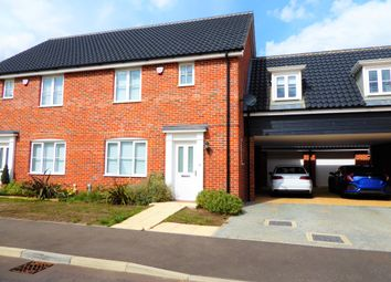 Thumbnail 3 bed semi-detached house to rent in Poppy Way, Leiston