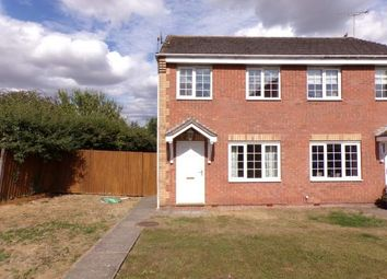 Thumbnail 2 bed semi-detached house for sale in Irwell Close, Oakham, Rutland, Leicestershire