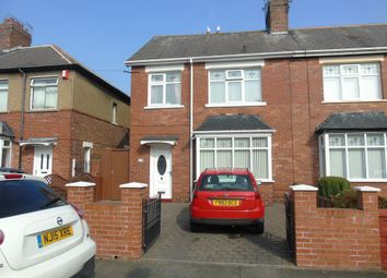 Thumbnail 3 bed semi-detached house for sale in Cartington Road, North Shields