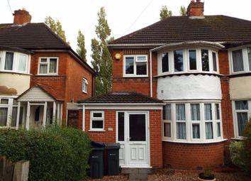 Thumbnail 3 bed semi-detached house to rent in Kingshurst Road, Northfield, Birmingham