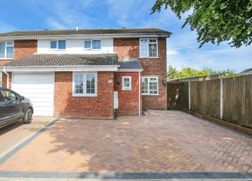 Thumbnail 4 bed semi-detached house for sale in Gage Close, Royston, Hertfordshire