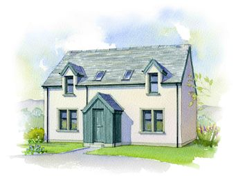 Thumbnail 3 bed detached house for sale in Strone Bheag, Bridge Of Cally, Blairgowrie