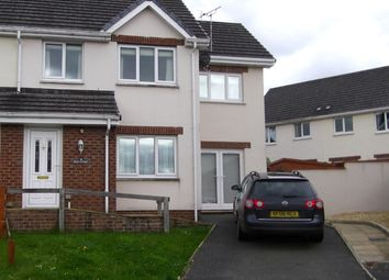 Thumbnail 3 bed semi-detached house to rent in Bryn Deri Close, Newcastle Emlyn, Ceredigion, West Wales