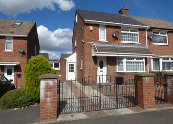 Thumbnail 2 bed semi-detached house for sale in Gainsborough Crescent, Shiney Row, Houghton Le Spring